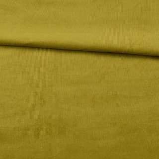 Микровельвет стрейч зеленый лайм ш.140