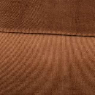 Вельвет стрейч коричневый ш.150