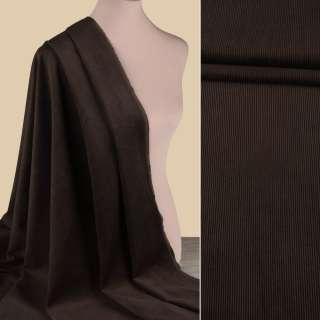 Вельвет стрейч коричневый темный ш.150