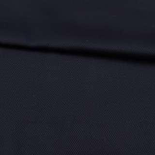 Шерсть стрейч жаккардовая синяя темная,мелкие ромбы, ш.152