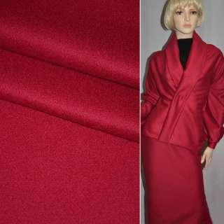 Ткань костюмная красная PIACENZA италия ш.154
