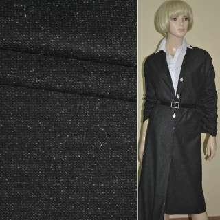"""Ткань костюмная черная в крапинку """"PHILIPP"""" Германия ш.155"""