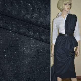 """Ткань костюмная сине-черная в крапинку """"PHILIPP"""" Германия ш.155"""