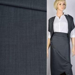 Ткань костюмная серо-голубая Германия ш.156
