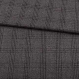 Шерсть костюмная в клетку серую серая ARMANI, ш.155