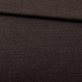 Шерсть костюмная стрейч коричневая темная ш.150