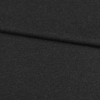 Шерсть с кашемиром черно-серая диагональ, ш.152