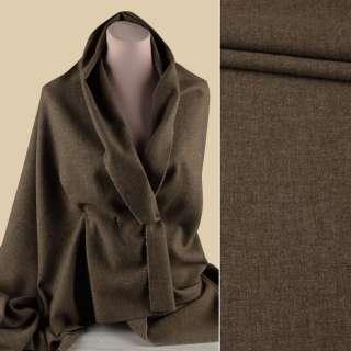 Шерсть костюмная GUABELLO с кашемиром коричневая меланж ш.157