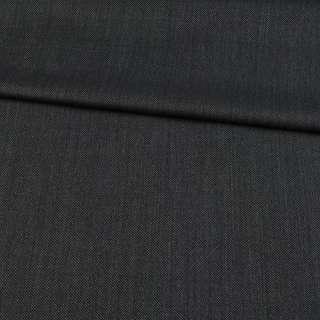 Шерсть костюмная черно-серая в точку, ш.152