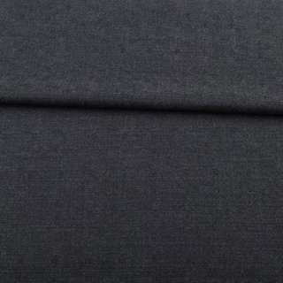 Шерсть костюмная с черточками серо-синяя, ш.150