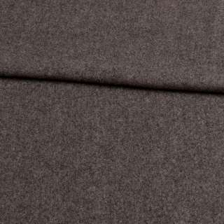 Твид шерстяной мягкий костюмный серый темный ш.155
