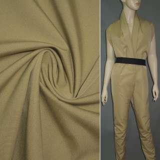 Ткань костюмная бежевая ш.142