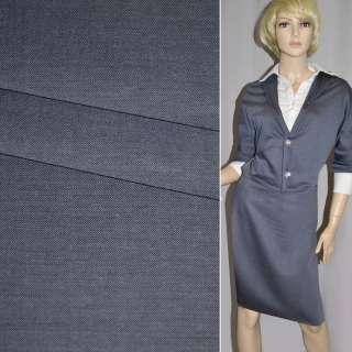 Ткань костюмная серо-голубая Германия ш.154