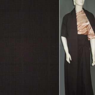 Ткань костюмная хлопковая стрейч коричневая темная, ш.150