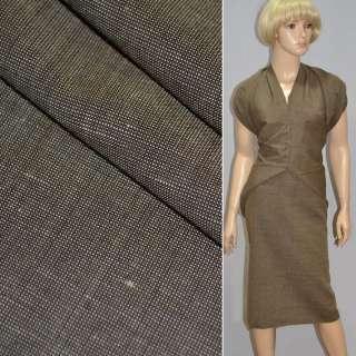 Ткань костюмная светло-коричневая Германия ш.147