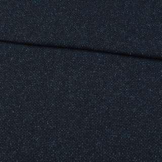 Шерсть костюмная меланж синяя, ш.152