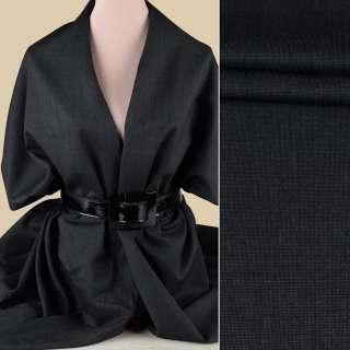 Полушерсть костюмная GUABELLO серая темная в серую точку ш.155