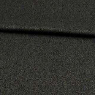 Креп шерсть костюмный муар зеленый темный, ш.157
