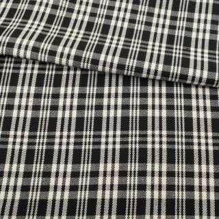 Шотландка с вискозой двухсторонняя клетка черно-белая/черная GERY WEBER