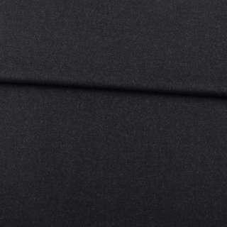 Шерсть стрейч черно-серая ш.152