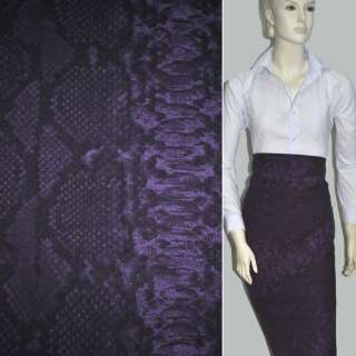 Коттон фиолетово-черный с белыми прямоугольниками ш.155