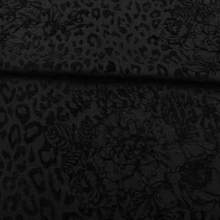 Коттон стрейч черный с флоком ш.160