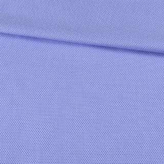 Коттон жаккардовый голубой в светлые мелкие соты ш.150