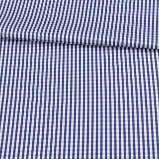 Коттон белый в синюю клетку 5 мм ш.155