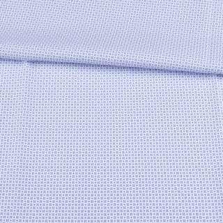 Коттон белый в мелкий голубой узор ш.150