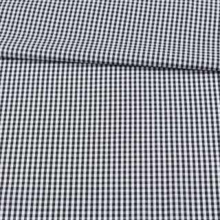 Коттон в черно-белую мелкую клетку ш.150
