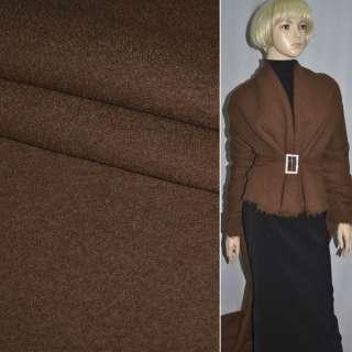 Лоден букле пальтовый коричневый, ш.150