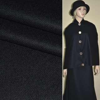 Шерсть пальтовая 2х-стор. Philipp сине-черная, ш.152