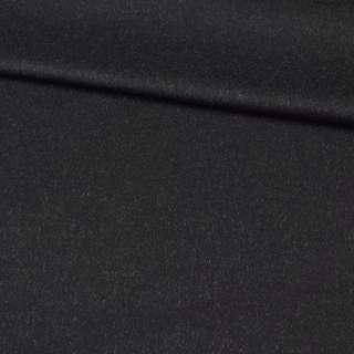 Кашемир пальтовый PIACENZA BOGNER черный с белыми ворсинками, ш.150