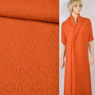 """Трикотаж пальтовый """"GERRY WEBER"""" ворсовый оранжевый, ш.119"""