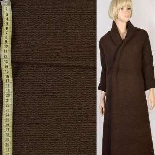 """Трикотаж пальтовый """"GERRY WEBER"""" коричневый темный, ш.148"""