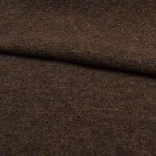 """Трикотаж пальтовый """"GERRY WEBER"""" бежево-коричневый меланж, ш.145"""