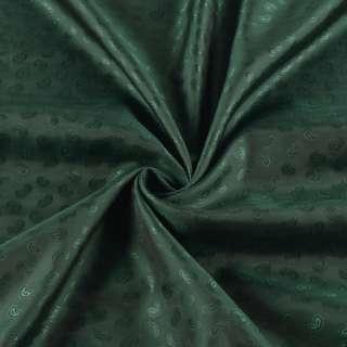 Вискоза подкладочная зеленая темная в жаккардовые огурцы,ш.140