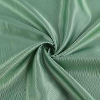 Вискоза подкладочная зеленая светлая диагональ, ш.142