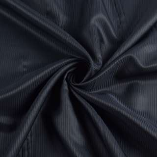 Вискоза подкладочная синяя темная полоска, ш.145