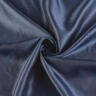 Вискоза-ацетат сине-черная диагональ хамелеон, ш.140