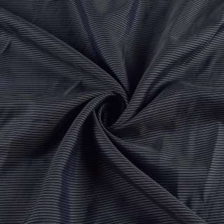 Вискоза подкладочная синяя в тонкую серую полоску, ш.145