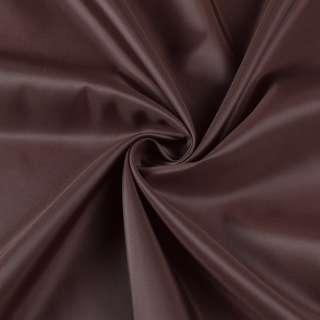 Полиэстер подкладочный коричневый, ш.155