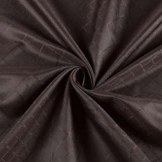 Подкладка полиэстер коричневая Hugo Boss, ш.140