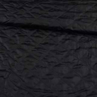Ткань подкладочная стеганая черная, ш.150