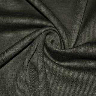 Трикотаж французький костюмний болотный серый ш.150