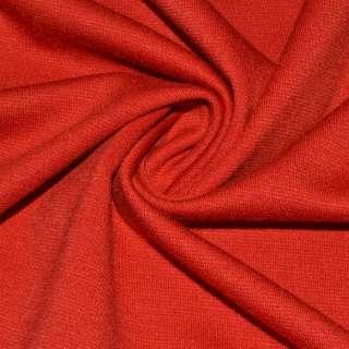 Трикотаж французский костюмный алый ш.150