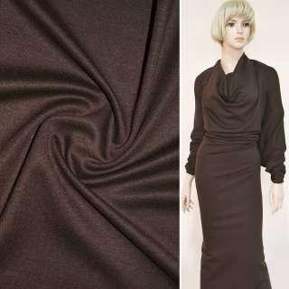 Трикотаж французький костюмний коричневый ш.150