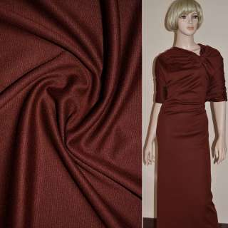 Трикотаж французький костюмний коричнево-красный ш.150