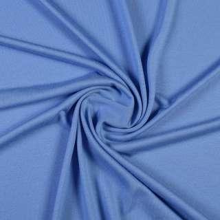 Трикотаж вискозный стрейч голубой васильковый, ш.150