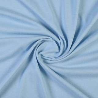 Трикотаж хлопковый голубой, ш.160